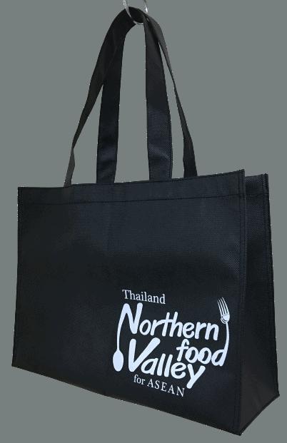 ผลิตกระเป๋าผ้า 600D พร้อมสกรีน ให้ Thailand Northern food valley for ASEAN