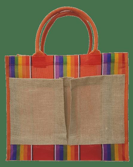 แบบกระเป๋าผ้ากระสอบสีรุ้ง