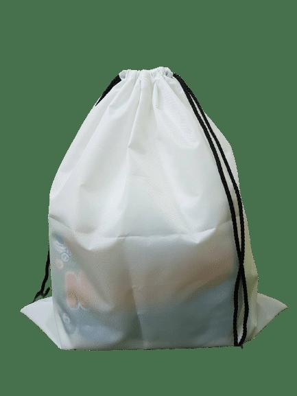 โรงงานผลิตถุงยังชีพ สีขาว พร้อมสกรีนฟรี 1 สี