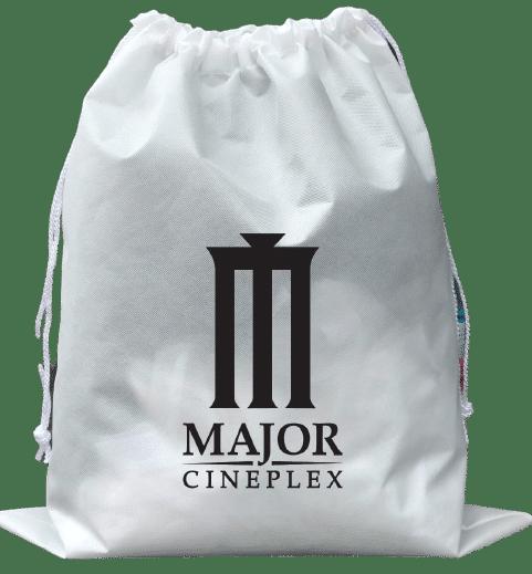 ผลิตถุงยังชีพ สีขาว พร้อมกรีน 1 สี ให้ Major Ceniplex